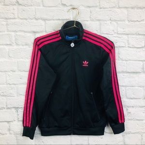 Adidas Girls Medium Zip Up Sweatshirt